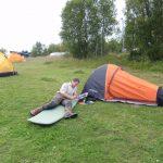 Bastian vorm Zelt in Ripan