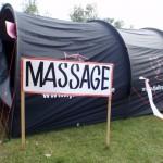Massage nach 110 Kilometern