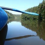 2. Tag schwarzer Regen mit dem Kanu