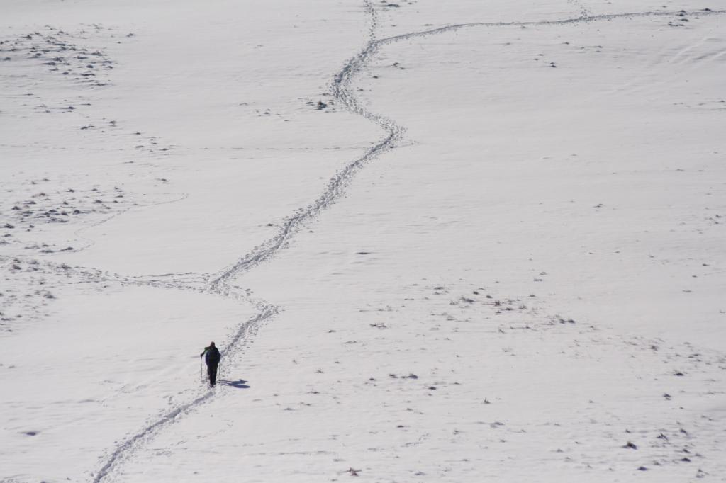 Besonderes Erlebnis - Schneewandern in den Bergen
