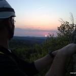Sonnenuntergang am Höhenglücksteig