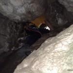 Ausstieg durch die Höhle