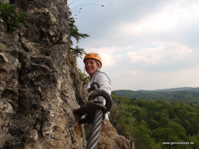 Klettersteig Höhenglücksteig : Höhenglücksteig in der fränkischen schweiz i hersbrucker alb