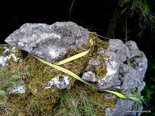 Felskoepfl gelegt mit Bandschlinge