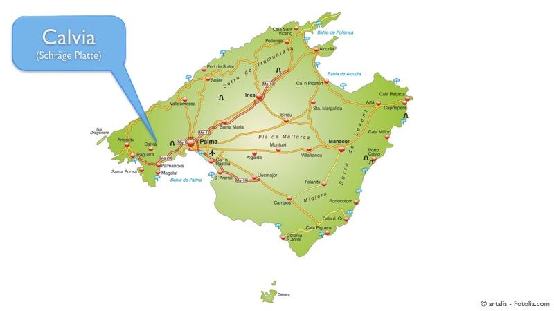 Übersichtskarte Mallorca - Calvia
