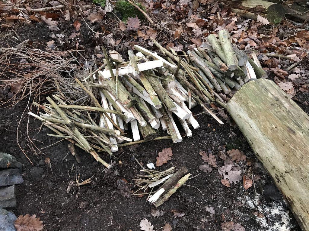 Vorbereitetes Feuerholz