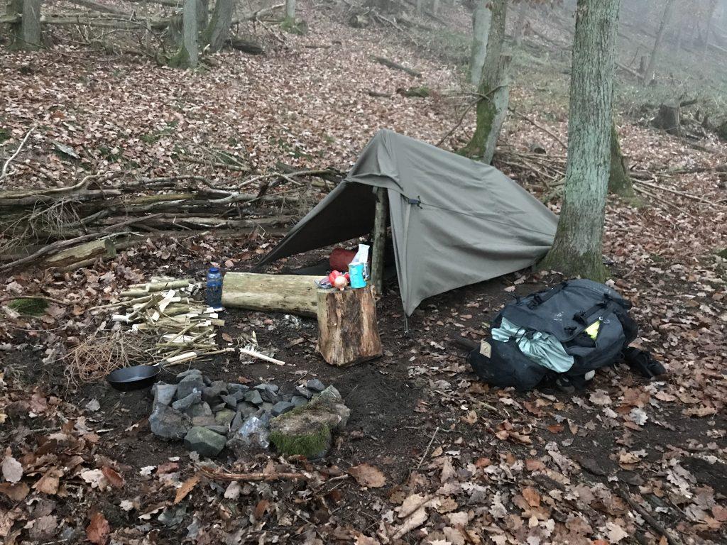 Das fertig aufgestellte Lager