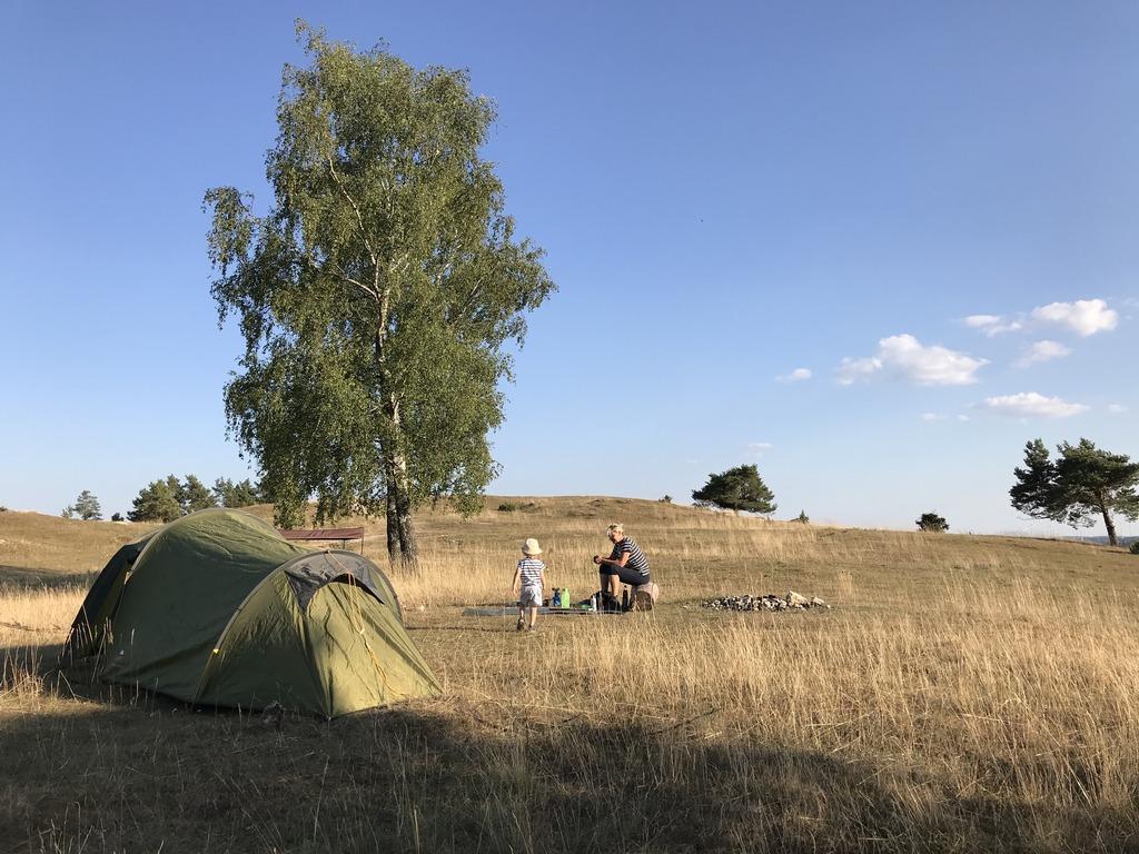 Die erste Übernachtung im Zelt